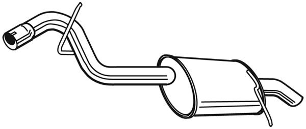 Silencieux arrière pour PEUGEOT 407 SW 1.6 HDi 110