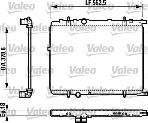 Radiateur du moteur pour CITROËN XSARA PICASSO (N68) 2.0 HDi