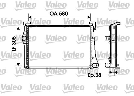 Radiateur du moteur pour FIAT Punto (188) 1.3 JTD 16V