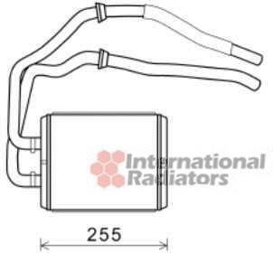 Radiateur de chauffage pour IVECO DAILY III Camion 35C15
