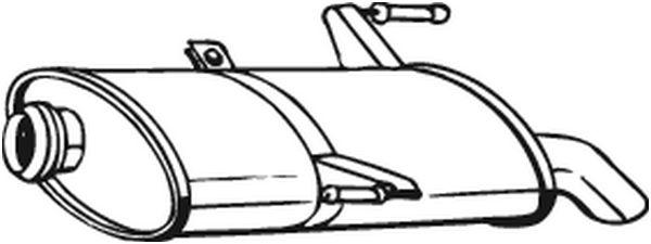 Silencieux arrière pour PEUGEOT 206 SW 2.0 HDi