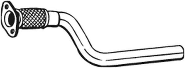 Tuyau d'échappement pour RENAULT SCENIC II 1.9 dCi (JM12)