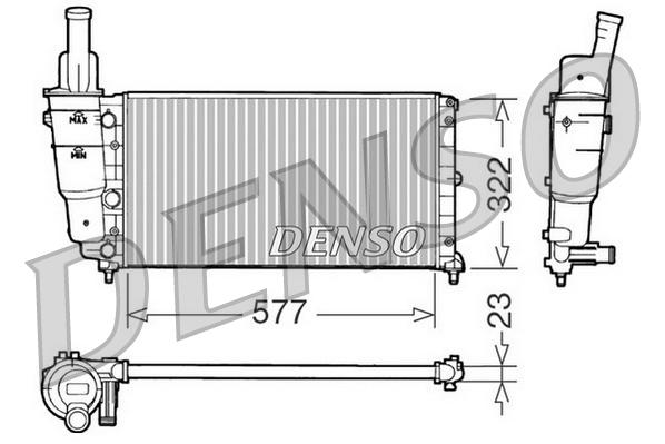 Radiateur du moteur pour FIAT PUNTO (176) 55 1.1
