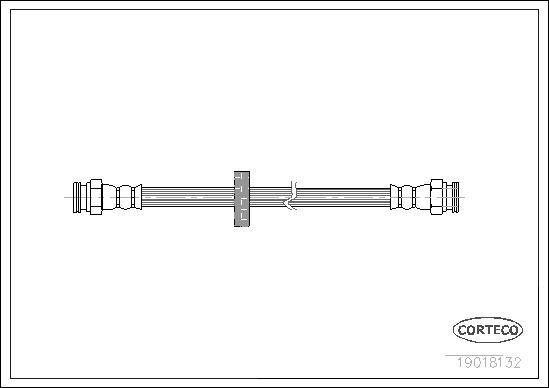 Flexible de frein pour ALFA ROMEO 145 (930) 2.0 16V