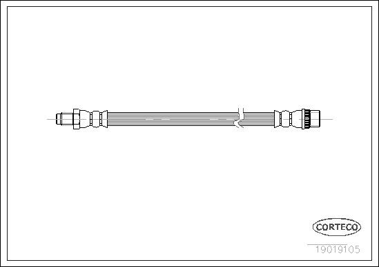 Flexible de frein pour CITROËN AX (ZA) 10