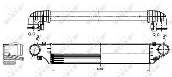 Intercooler, échangeur pour MERCEDES-BENZ CLASSE C (203