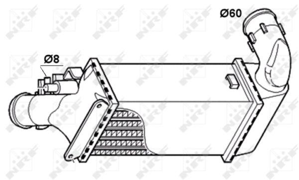 Intercooler, échangeur pour PEUGEOT 607 (9D, 9U) 2.2 HDI
