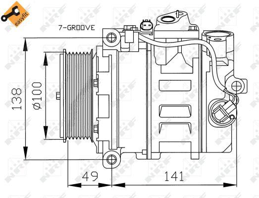 Compresseur, climatisation pour MERCEDES-BENZ Classe S