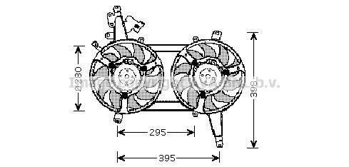 Ventilateur, refroidissement du moteur pour FIAT Marea