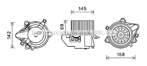 Moteur électrique, pulseur d'air habitacle pour FIAT PUNTO