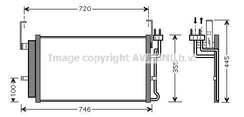 Condenseur, climatisation pour HYUNDAI Santa Fé 2 2.0 CRDi