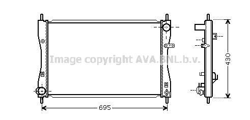 Radiateur du moteur pour SMART Forfour 1.5 CDI (454.001)
