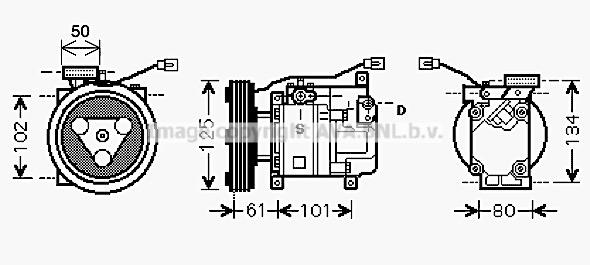 Compresseur, climatisation pour MAZDA 3 (BK14) 1.6