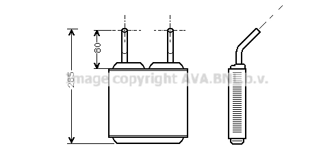 Radiateur de chauffage pour OPEL Kadett E 1.8 GSI