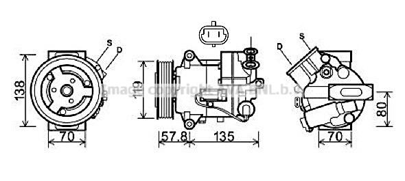 Compresseur, climatisation pour OPEL INSIGNIA 2.0 CDTI 4x4