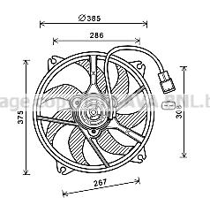 Ventilateur, refroidissement du moteur pour CITROËN C4