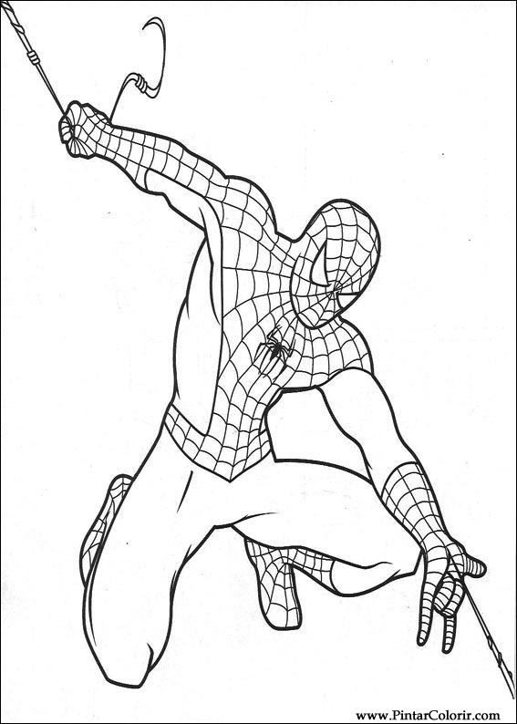 Drawings To Paint Amp Colour Spiderman Print Design 018