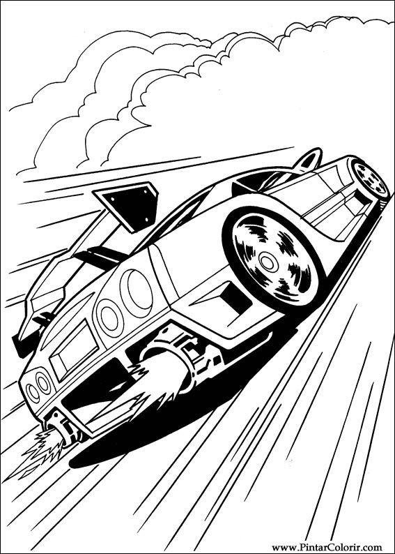 Ladybug para imprimir para crianças 13 online. Drawings To Paint & Colour Hot Wheels - Print Design 035