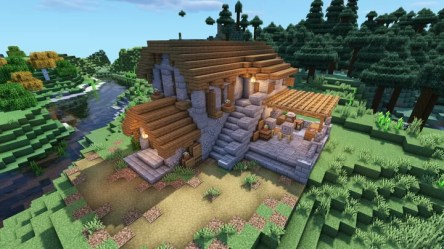 Medieval Survival Village Stone Mason House Minecraft Map