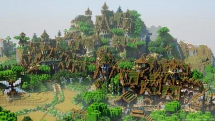Wood Elven City Minecraft Map