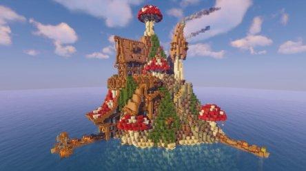 Mushroom Island Village Minecraft Map