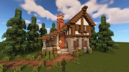 Medieval Blacksmith House Minecraft Map