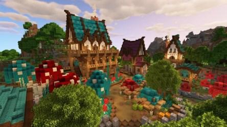 Minecraft 1 16 Fantasy Village Build Minecraft Map