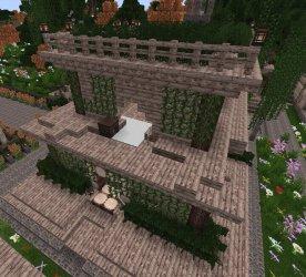 medieval town communal kitchen minecraft