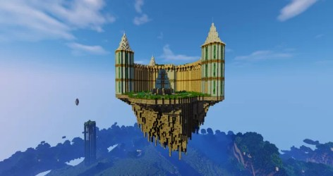 Elves Castle floating castle Minecraft Map