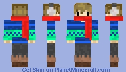 Grian Winter Blues Minecraft Skin