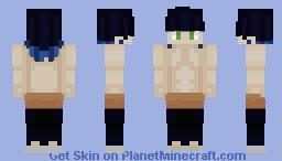 Inosuke Hashibira Unmasked (Kimetsu No Yaiba) Minecraft Skin