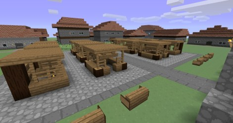 town medieval square market minecraft