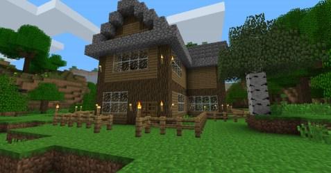 minecraft cottage cozy front