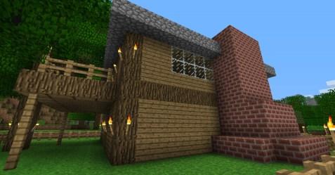 cozy cottage minecraft side