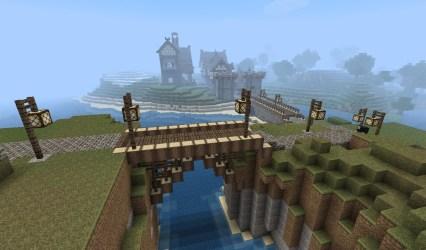 minecraft medieval bridge bridges designs town blueprints castle modern mine buildings building houses village blueprint idea wall amazing crafts projects