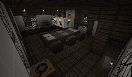 medieval kitchen town minecraft dining area houses