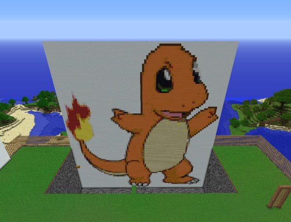 Minecraft Charmander Pixel Art Tutorial Exploring Mars