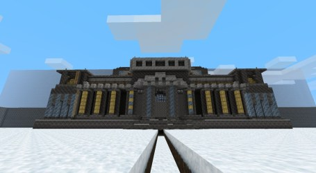 simple hall minecraft agian front