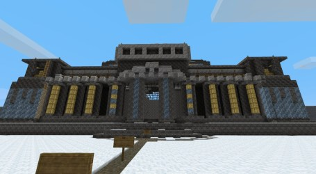 hall simple minecraft front agian