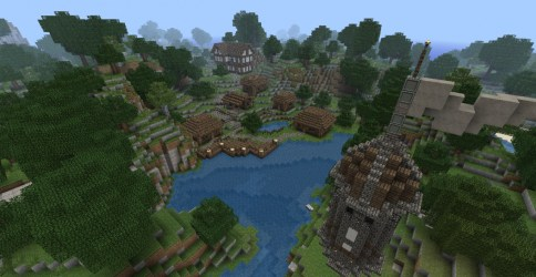 medieval town harbour minecraft overwiew updated