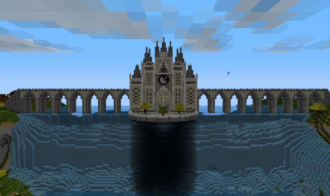 Waterfall Castle Minecraft Project