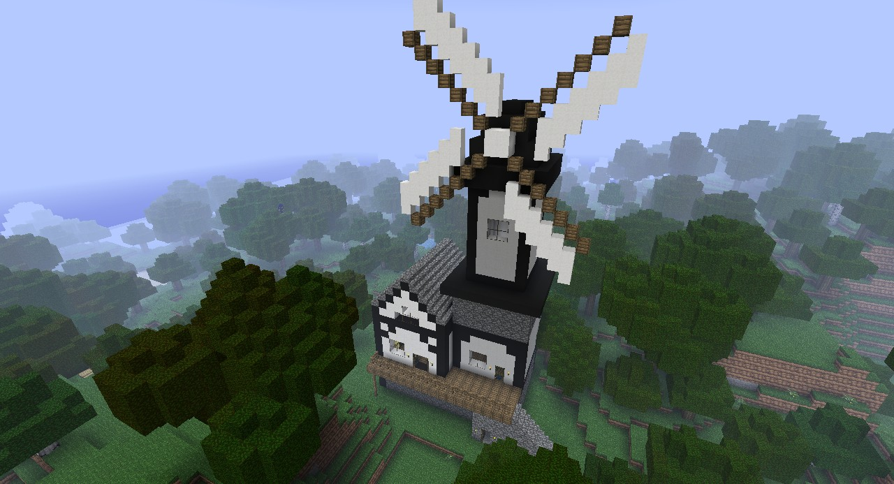 Scandinavian Style Windmill And House Minecraft Project