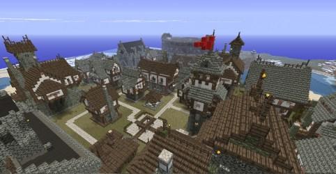 Layout Minecraft Medieval Village