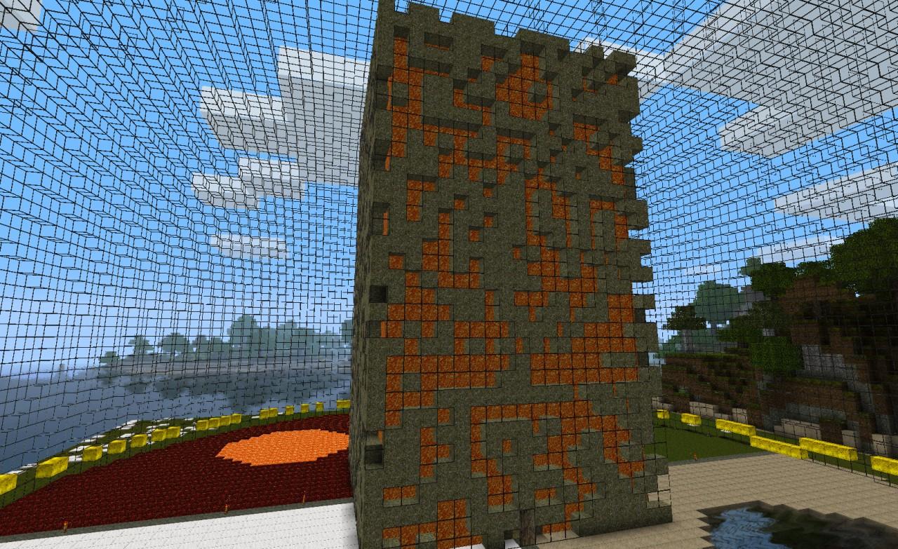 perfect minecraft circle diagram softball diamond sphere tower vault project