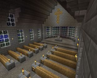 church simple crypt project minecraft