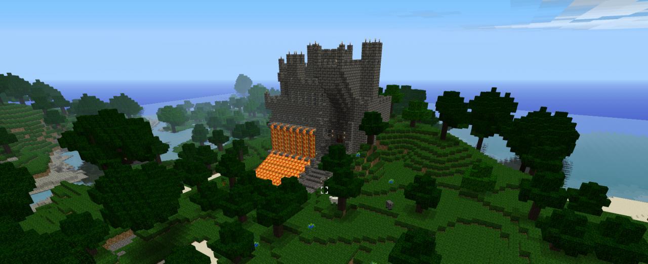 Evil Looking Castle Ragnarok Minecraft Project