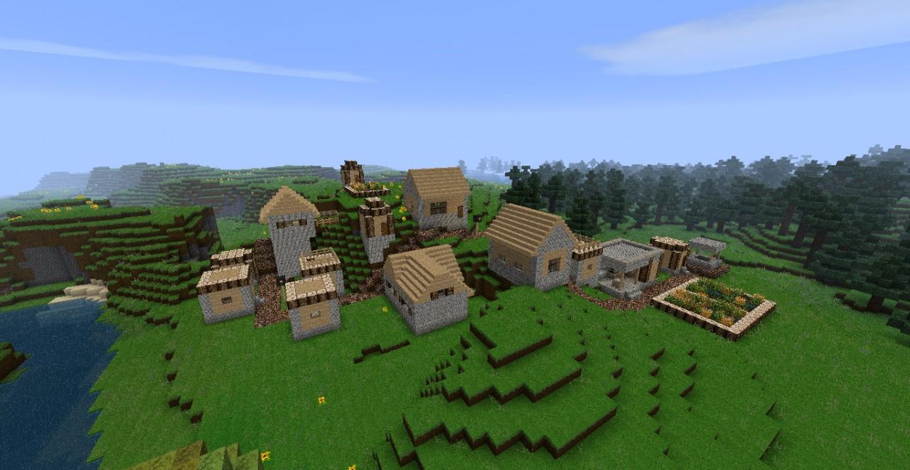minecraft default village of normal world Minecraft Project