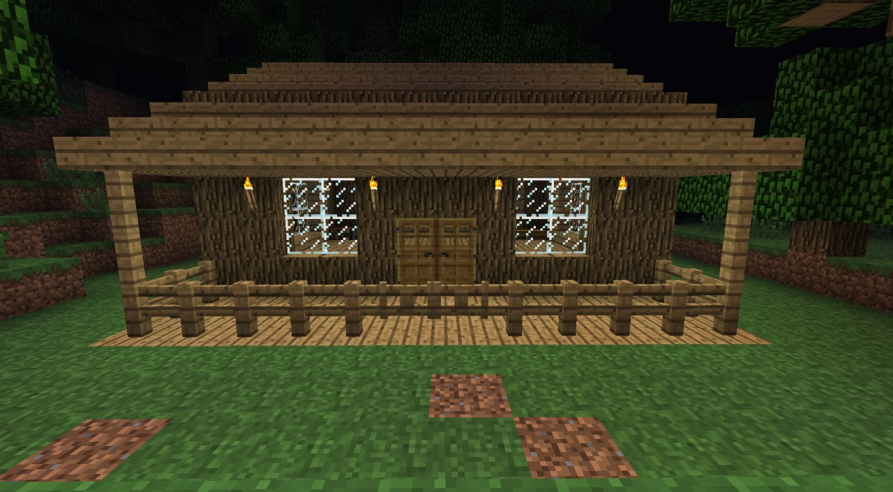 181 Nice Little House with Porch Creative Minecraft