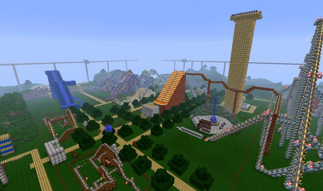 GIGANTIC Theme Park Minecraft Project