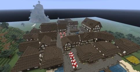 medieval town minecraft map huge blueprints toruń custom overwiew description visit